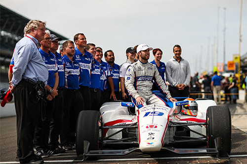 Jones secures fourth row start for maiden Indy 500