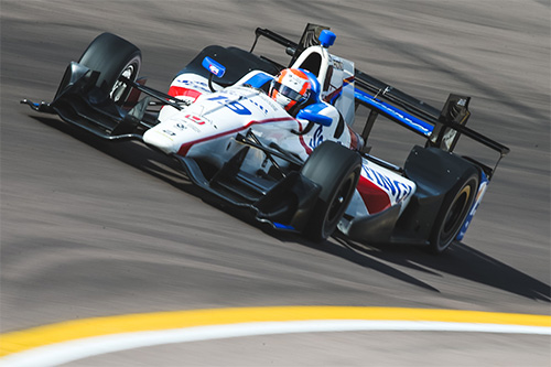 Jones takes the fight to IndyCar titans as he revs up for rookie campaign