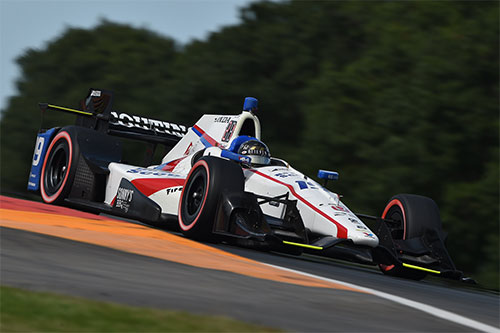 Conditions conspire to blunt Jones' charge at The Glen