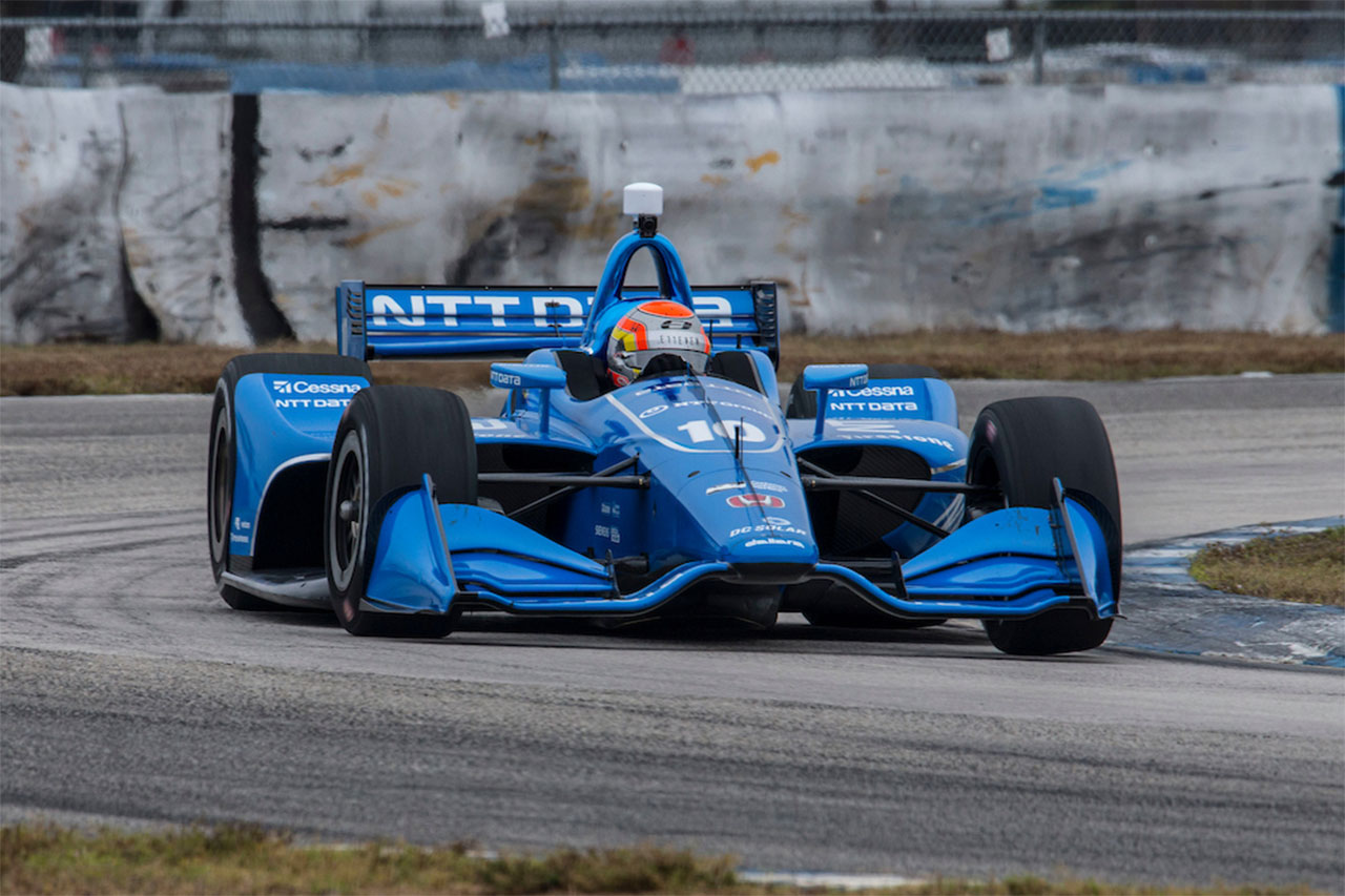 Ed Jones 2018 Indy Car Testing Sebring International Raceway