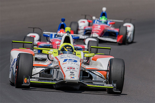 Jones speeds to top three finish on dazzling Indianapolis 500 debut