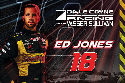 Jones to Drive No. 18 Team SealMaster Dale Coyne Racing with Vasser Sullivan for 2021