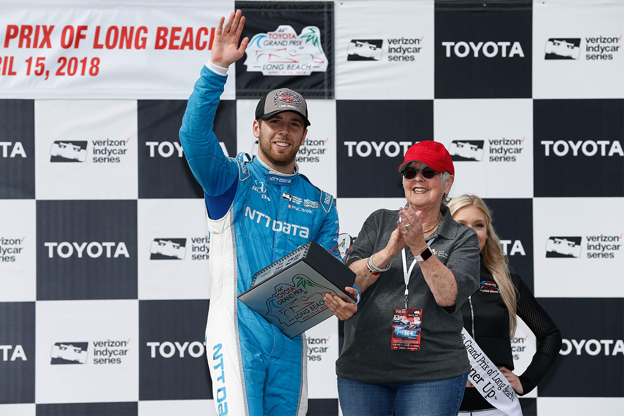 Ed Jones Chip Ganassi Racing Verizon IndyCar Series Grand Prix Of Long Beach Podium
