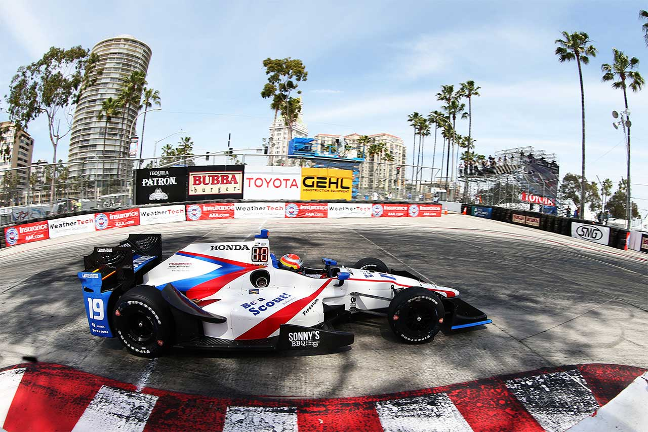 Ed Jones Indycar Long Beach 2017