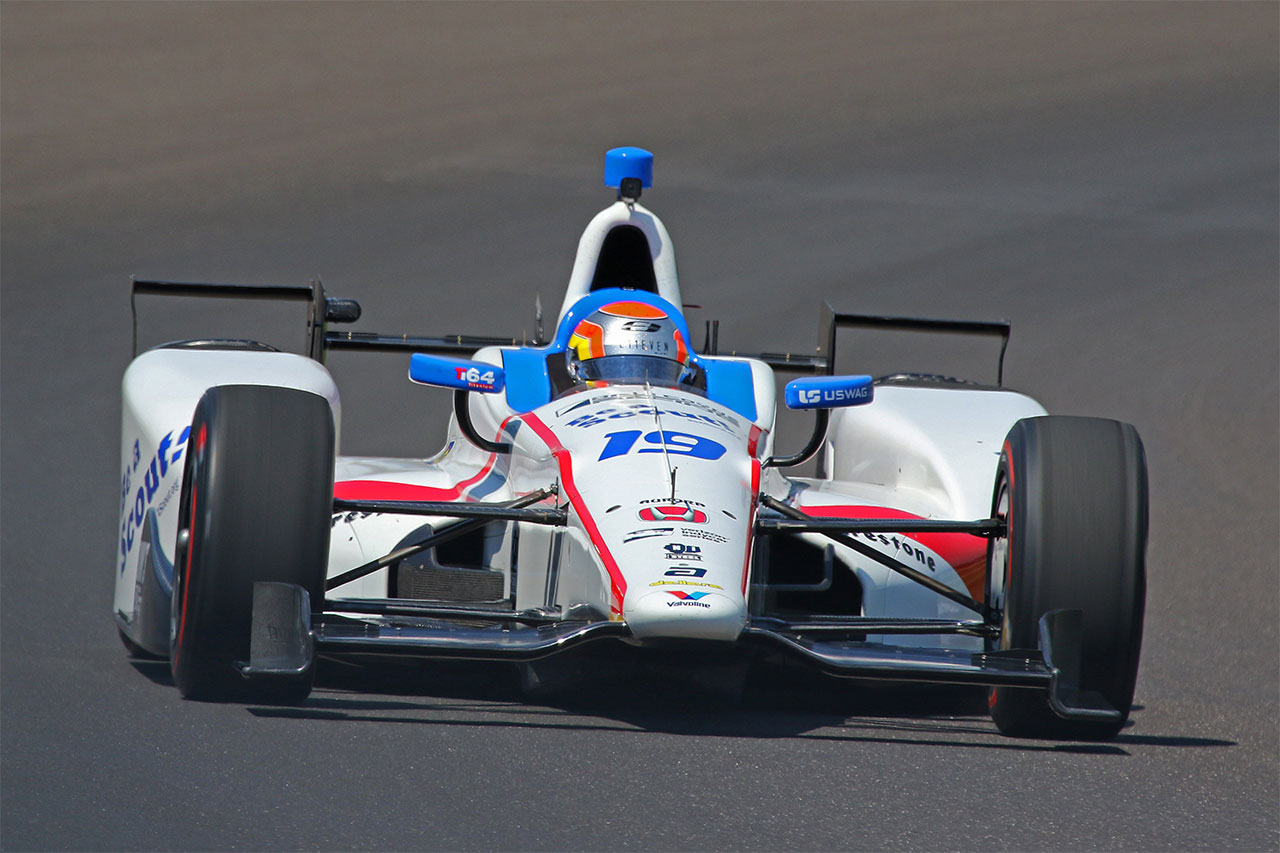 Ed Jones Dale Coyne Racing Indycar ABC Supply 500 At Pocono Raceway